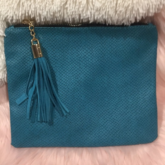 Bohme Handbags - NWOT - Bohme - Street Level Turquoise Clutch